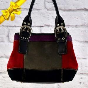 Tignanello Block Suede Bucket Handbag ~ce29g5g19a6